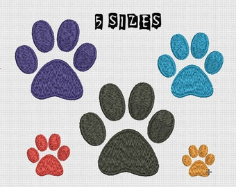 Embroidery design Paw Print Machine Embroidery Dog Paw Design Embroidery Animal Paw Machine Embroidery Paw print Pattern INSTANT DOWNLOAD