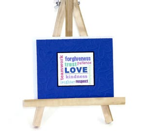 True Meaning of Love Handmade Card, Valentine's Day, Wedding card, Anniversary Card, Engagement Card, Definition of Love, Love is, colourful