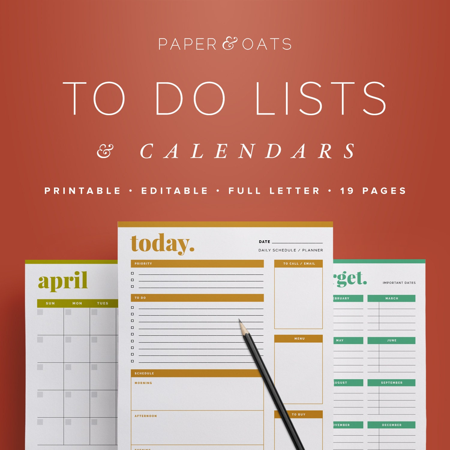 daily weekly planners