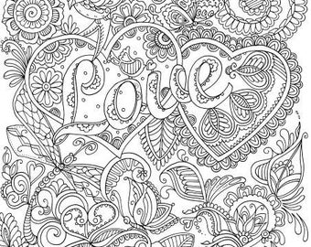 Adult coloring page | Etsy