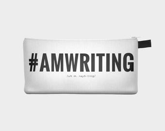 AMWRITING Pencil Case { #AMWRITING Makeup Pouch }