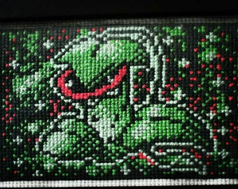 Victreebel Finished Cross Stitch