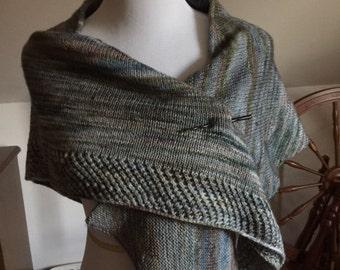 Hand-knit Merino Wool Wrap or Poncho