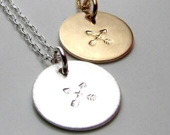 Arrow Necklace | Crossed Arrows Charm Necklace | Gold Arrow Necklace | Silver Arrow Necklace | Arrow Charm Jewelry E. Ria Designs