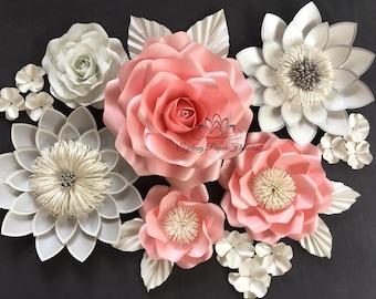 Paper flower backdrop ROSE&LOTUS/Paper flower wall/Wedding Backdrop/Backdrop /Baby shower/Baby shower/Sweet table/Christening /Dessert table