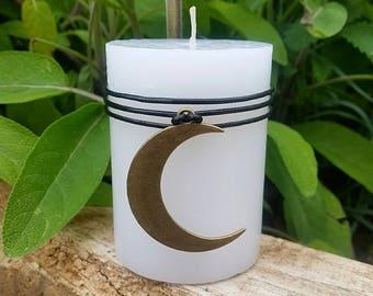 Crescent Moon candle, Esbat candle, Sabbat candle, moon ritual candle, Goddess altar candle, moon goddess candle, pagan altar decor