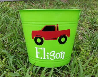 Personalized Easter Bucket; Truck; Boys' Bucket