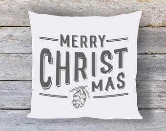 Merry Christmas Pillow Cover, Merry Christ Mas Pillow, Christmas Pillow, Christmas Decor