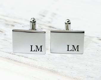 Personalized CuffLinks, Engraved CuffLinks, Groomsmen CuffLinks, Monogrammed Cufflinks, Groom gifts, Gifts for Dad, Gifts for Him Cufflinks