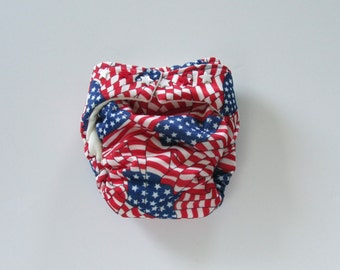 TADA AIO Organic Cloth Diaper in Flag print