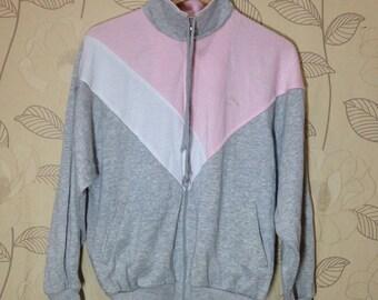 Vintage 90s Puma Zip Up Sweatshirt Rayon Jacket Mens Large Size