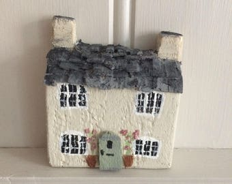 Custom House portraits // English Ornamental Cute Nook Cottages // Personalised gift // gift for her // sculpture // Handmade // England