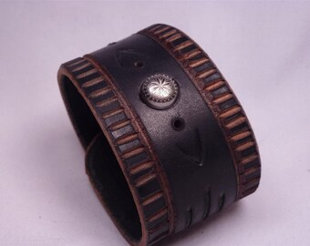 Leather Tribal Cuff