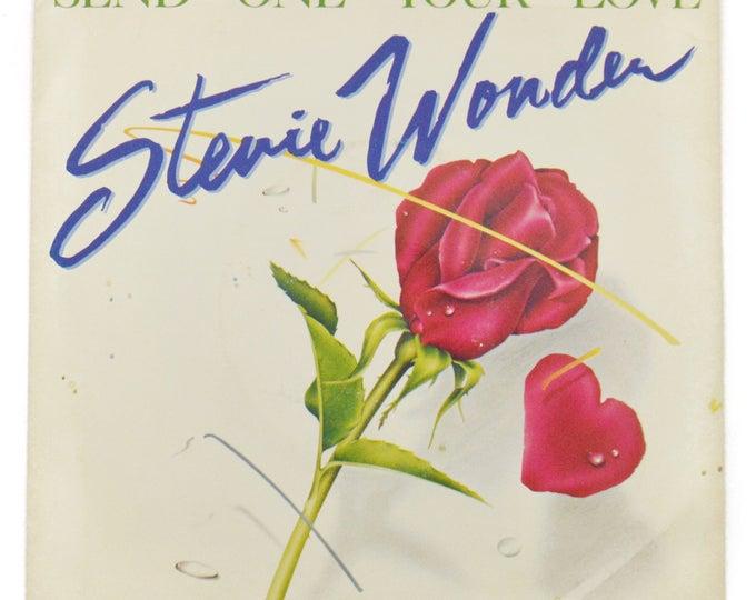 Vintage 70s Stevie Wonder Send One Your Love R&B Picture Sleeve Promo 45 RPM Single Record Vinyl