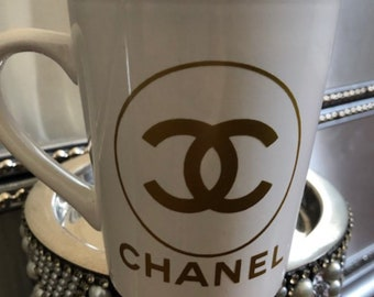 White mug with Gold