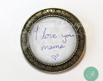 MOTHER'S DAY Brooch- Your actual handwritten note to Mom