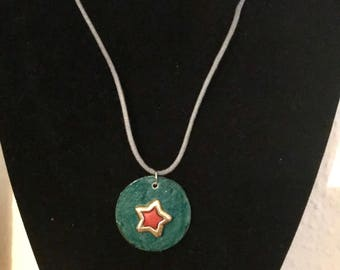 Beside the Sea - Red Star Necklace