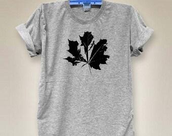 Maple tshirt women graphic shirt slogan shirt tumblr shirt women shirt tumblr quote shirt cool tshirt V neck tshirts gray tshirts size S M L