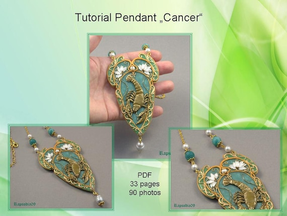 Jewelry pendant tutorial pdf tutorial pendant cancer polymer clay jewelry pendant tutorial pdf tutorial pendant cancer polymer clay pendant tutorial star sign pendant tutorial cancer pendant diy from rapsodia09artwork on aloadofball Images