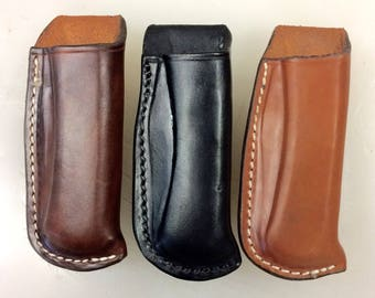 Open Top Leather Sheath for the Buck Knife 110 and 112