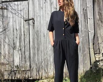 3(fits) 80's jumpsuit black