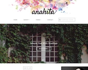 Free Installation - Wordpress Theme Wordpress template, Feminine, Responsive WordPress Theme, Wordpress blog theme, Fashion theme-Anahita