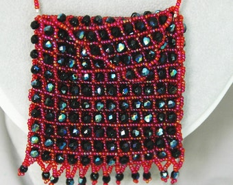 red and black amulet bag