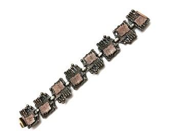 Vintage Bracelet Copper, 60's Mid Century womens jewelery