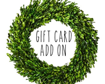Gift Card Add On
