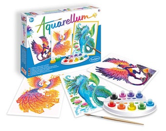 NEW! Watercolor Magical Paint Set - Aquarellum Large Mythical Animals- Try something New and Creative - FREE SHIPPING - Non Toxic