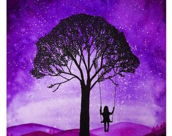 Daydreamer Purple Print