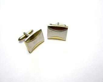 Silver Cufflinks Silver Gold Swank Cuff Links