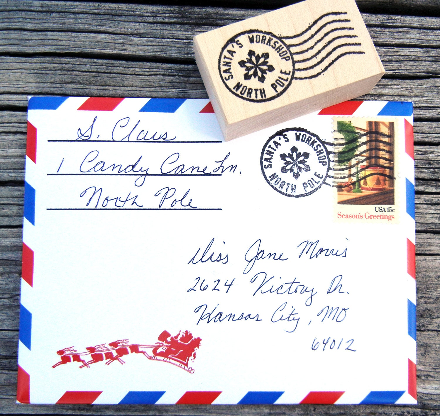 How to postmark a letter mersnoforum how to postmark a letter letter from santa spiritdancerdesigns Choice Image