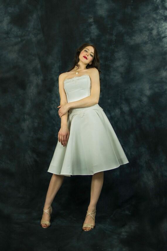 50s style short wedding dress 50s bridal gown 50s elopement