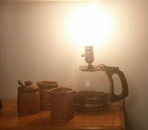 Coffee Carafe Lamp