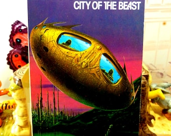 Michael Moorcock Vintage Sci Fi Paperback Book  1970s  City of the Beast Warriors of Mars Martian Trilogy
