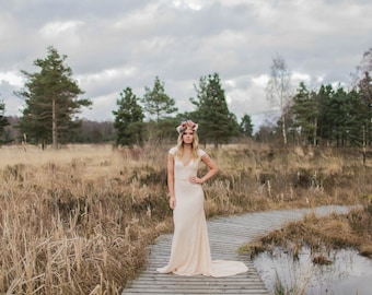 Bacall - Ivory Blush Luxe Bohemian Wedding Gown