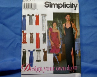 Simplicity 8970 Sewing Pattern, Bridal Formal Dress Gown, Size N 10, 12, 14