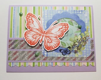 Handmade All Occasion Card, For Her, Butterfly