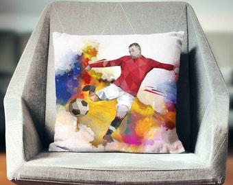Soccer Decor | Soccer Coach Gift | Soccer Bedding | Soccer Pillow | Soccer Bedroom | Soccer Decorations | Soccer Gifts