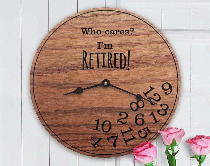 Funny Retirement Gifts - Who Cares I'm Retired! - Gifts for Retirement - Funny Retirement Gift - I'm Retired!