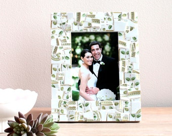 Broken China Mosaic Picture Frame 5x7 – Custom Made from Your Broken China