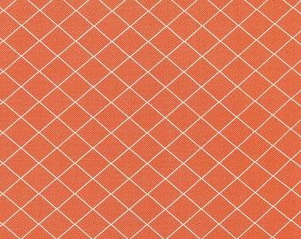 Orange Plaid Fabric - Moda Bread N Butter Fabric - American Jane Orange Quilting Fabric By The 1/2 Yard