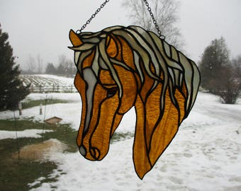 Stained Glass Horse Sun Catcher