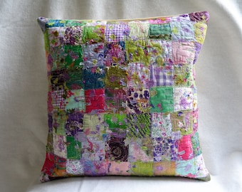 Spring patchwork cushion cover