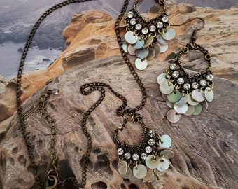 Chandelier Necklace And Earring Set