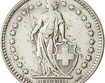 switzerland 2 francs 1931 bern ef(40-45) silver km21