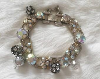 Vintage 1960s Juliana AB Crystal link bracelet