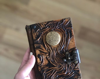 Steampunk Journal, Leather Journal, Leather Notebook, Leather Sketchbook, Leather Diary