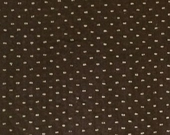 Dotted Swiss / Brown Dotted Swiss / Cotton Dotted Swiss / Vintage Dotted Swiss